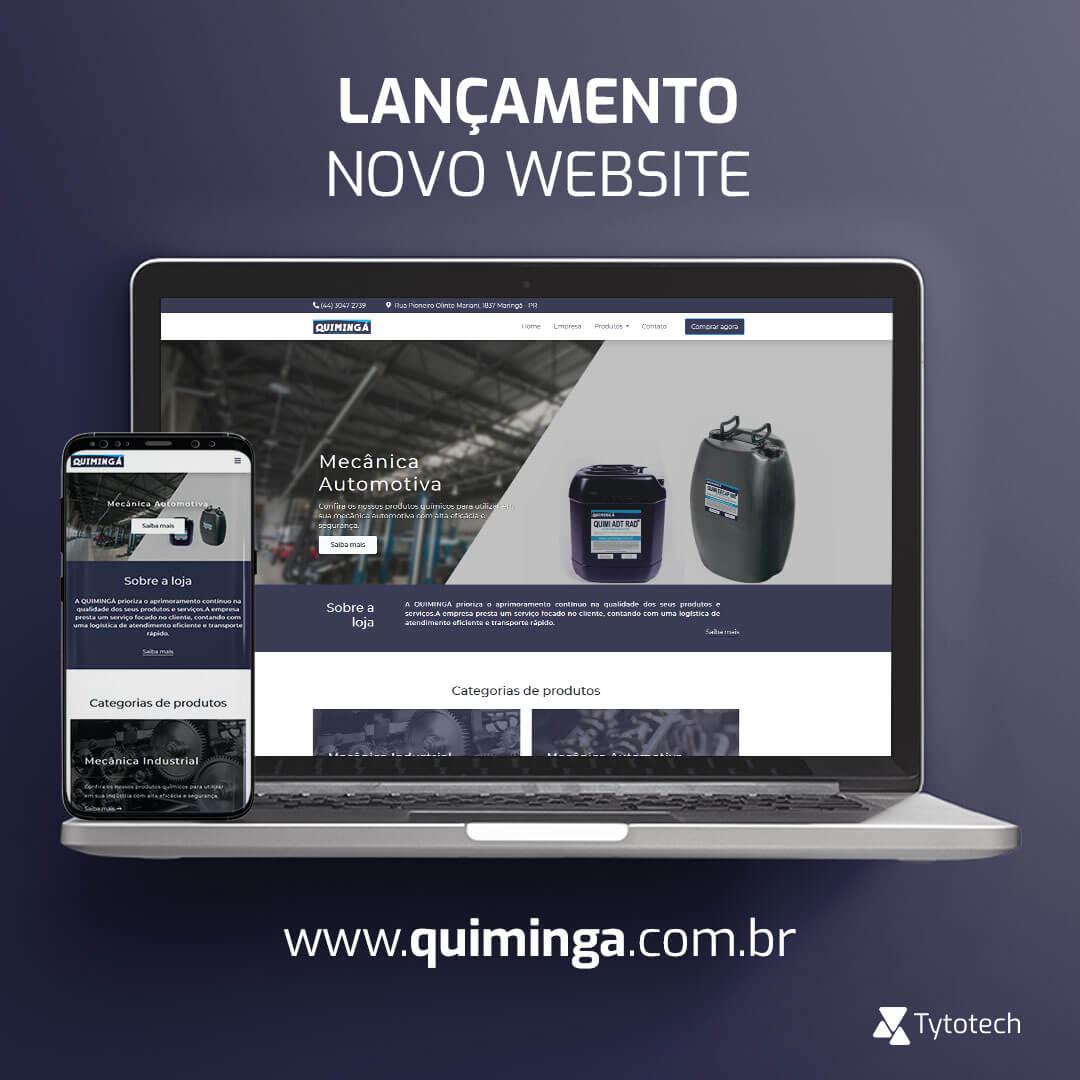 Lançamento novo website institucional Quimingá