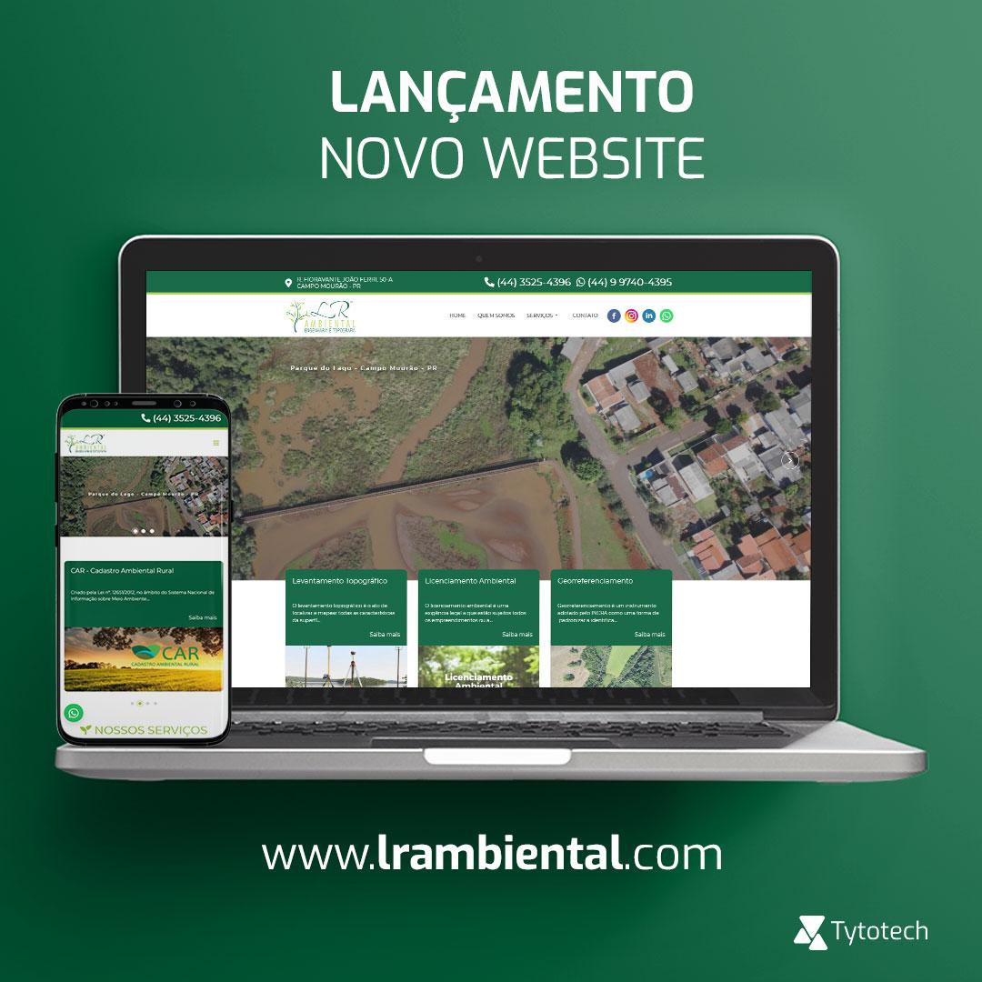 Lançamento novo website institucional LR Ambiental
