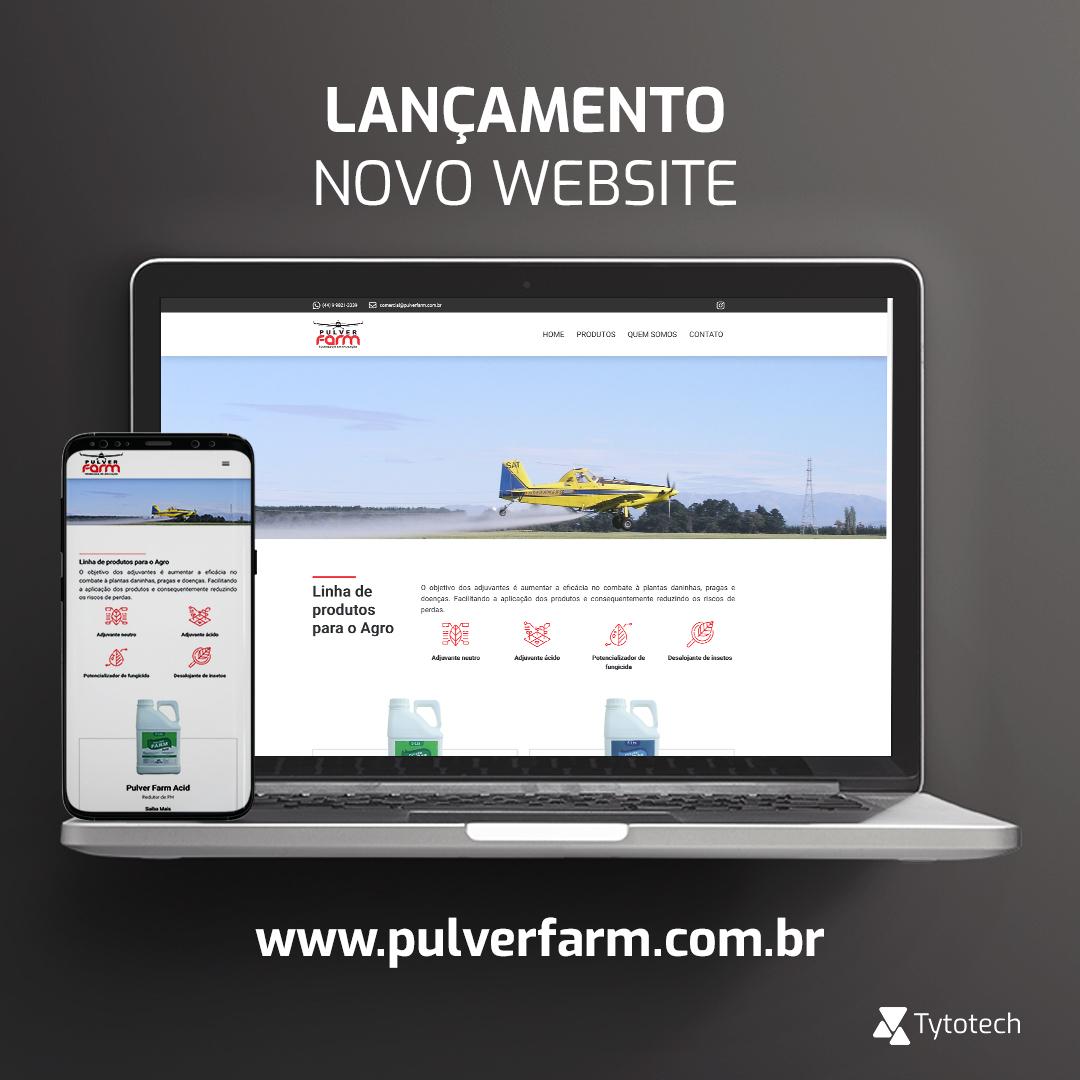 Lançamento novo website institucional Pulver Farm