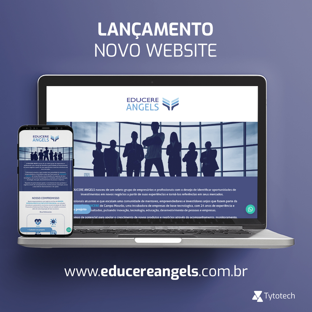 Lançamento novo website Educere Angels